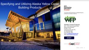 Yellow Cedar AIA Course